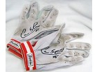 Carlos Lee Autographed / Signed 2007 Game Used Houston Astros Red Batting Gloves