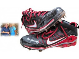 Yunel Escobar Autographed/Signed 2009 Game Used Spikes