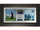 Tiger Woods 2000 US Open 2 Photo Leather Framed w/ Jack Nicklaus