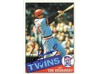 Tom Brunansky Autographed / Signed 1985 Topps #122 Card - Minnesota Twins