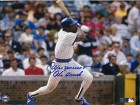 "Andre Dawson Autographed/Signed """"The Hawk"""" 8x10 Photo"
