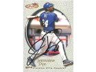 Jermaine Dye Autographed / Signed 2001 Fleer Futures Card #149 - Kansas City Royals