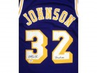 "Magic Johnson Autographed Los Angeles Lakers Purple Jersey ""Showtime"" PSA/DNA ITP Stock #32175"