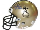 Gary Beban signed Heisman Authentic Gold Mini Helmet UCLA
