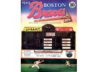 1949 Boston Braves Original Scorecard Program