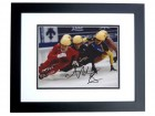 Apolo Anton Ohno Signed - Autographed Olympic Gold Medalist Speed Skating 8x10 inch Photo BLACK CUSTOM FRAME - Apolo Ohno - Guaranteed to pass PSA or JSA
