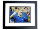 Andre Agassi Signed - Autographed Tennis 11x14 inch Photo - JSA Certificate of Authenticity - BLACK CUSTOM FRAME