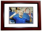 Andre Agassi Signed - Autographed Tennis 11x14 inch Photo - JSA Certificate of Authenticity - MAHOGANY CUSTOM FRAME
