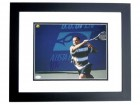 Andre Agassi Signed - Autographed Tennis 11x14 inch Photo - BLACK CUSTOM FRAME - JSA Certificate of Authenticity