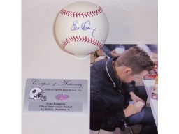 Evan Longoria Hand Signed Official Major League Baseball - MLBA