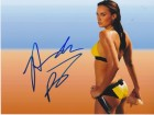 Amanda Beard Signed - Autographed Swimming 8x10 inch Photo - Guaranteed to pass PSA or JSA - Olympic Gold Medalist
