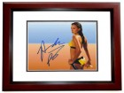 Amanda Beard Signed - Autographed Swimming 8x10 inch Photo MAHOGANY CUSTOM FRAME - Guaranteed to pass PSA or JSA - Olympic Gold Medalist