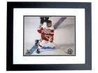 Alex Delvecchio Signed - Autographed Detroit Red Wings 8x10 inch Photo BLACK CUSTOM FRAME - Guaranteed to pass PSA or JSA - Hall of Famer