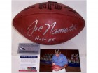 Joe Namath Autographed Hand Signed Official NFL Leather Football - PSA/DNA