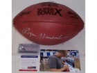 Roger Staubach Autographed Hand Signed Super Bowl 10 X Official NFL Leather Football - PSA/DNA