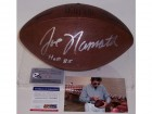 Joe Namath Autographed Hand Signed Official NFL Dark Leather Football - PSA/DNA