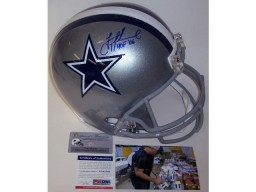 Troy Aikman Autographed Hand Signed Dallas Cowboys Full Size Helmet - PSA/DNA