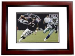 Arian Foster Signed - Autographed Houston Texans 8x10 inch Photo MAHOGANY CUSTOM FRAME - Guaranteed to pass PSA or JSA