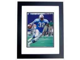 Alonzo Highsmith Signed - Autographed Houston Oilers 8x10 inch Photo BLACK CUSTOM FRAME - Guaranteed to pass PSA or JSA