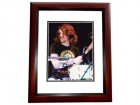 Andy Hurley Signed - Autographed FALL OUT BOY Concert 8x10 inch Photo MAHOGANY CUSTOM FRAME - Guaranteed to pass PSA or JSA