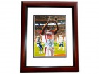 Andre Johnson Signed - Autographed Houston Texans 8x10 Pro Bowl Photo MAHOGANY CUSTOM FRAME