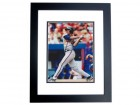 Andruw Jones Signed - Autographed Atlanta Braves 8x10 inch Photo BLACK CUSTOM FRAME - Guaranteed to pass PSA or JSA