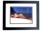 Anna Kournikova Signed - Autographed Sexy Model - Tennis 8x10 inch Photo BLACK CUSTOM FRAME - PSA/DNA Certificate of Authenticity (COA)