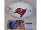 Mike Alstott Autographed Hand Signed Tampa Bay Bucs Logo Football - PSA/DNA