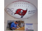 Mike Alstott Autographed Hand Signed Tampa Bay Bucs Full Size Logo Football - PSA/DNA
