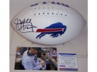 Jim Kelly Autographed Hand Signed Buffalo Bills Logo Football - PSA/DNA