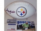 Terry Bradshaw Autographed Hand Signed Pittsburgh Steelers Full Size Logo Football - PSA/DNA