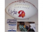 Warren Sapp Autographed Hand Signed Tampa Bay Buccaneers Throwback Logo Football - BAS Beckett