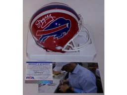 Jim Kelly Autographed Hand Signed Bills Mini Helmet - PSA/DNA