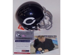 Dick Butkus Autographed Hand Signed Bears Authentic Mini Helmet - PSA/DNA