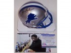 Barry Sanders Autographed Hand Signed Lions Throwback Mini Helmet - BAS Beckett