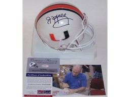Jim Kelly Autographed Hand Signed Miami Hurricanes Mini Helmet - PSA/DNA