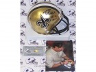 Drew Brees Autographed Hand Signed Saints Mini Helmet