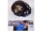 Mike Alstott Autographed Hand Signed Matte Black Purdue Boilermakers Speed Mini Helmet - PSA/DNA