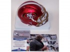 Jerry Rice Autographed Hand Signed 49ers BLAZE Speed Mini Helmet - BAS Beckett