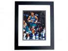 Alonzo Mourning Signed - Autographed Charlotte Hornets 8x10 inch Photo BLACK CUSTOM FRAME