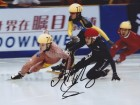 Apolo Anton Ohno Signed - Autographed Olympic Gold Medalist Speed Skating 8x10 inch Photo- Apolo Ohno - Guaranteed to pass PSA or JSA