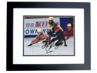 Apolo Ohno Signed - Autographed Speed Skating 8x10 Photo BLACK CUSTOM FRAME - Olympic Gold Medalist - Apolo Anton Ohno