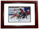 Apolo Anton Ohno Signed - Autographed Olympic Gold Medalist Speed Skating 8x10 inch Photo MAHOGANY CUSTOM FRAME - Apolo Ohno - Guaranteed to pass PSA or JSA