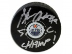 "Glenn Anderson Edmonton Oilers Autographed Puck Inscribed ""5X SC Champ!"""