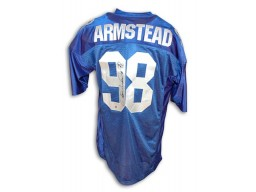 Autographed Jesse Armstead New York Giants Blue Jersey