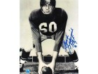 "Autographed Chuck Bednarik Black and White 8x10 Photo Inscribed ""HOF 67"""