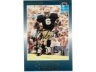 Jerome Bettis Notre Dame Fighting Irish Autographed Slam Football Promo Card -Running in Blue Jersey-