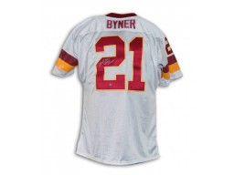 "Earnest Byner Washington Redskins Autographed White Throwback Jersey Inscribed ""SB XXVI Champs"""