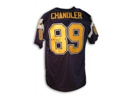 "Autographed Wes Chandler San Diego Chargers Throwback Jersey Inscribed ""Pro Bowl 82 83 85"""