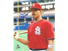 "Autographed Danny Cox St. Louis Cardinals 8x10 Photo Inscribed ""85 & 87 NL Champs"""